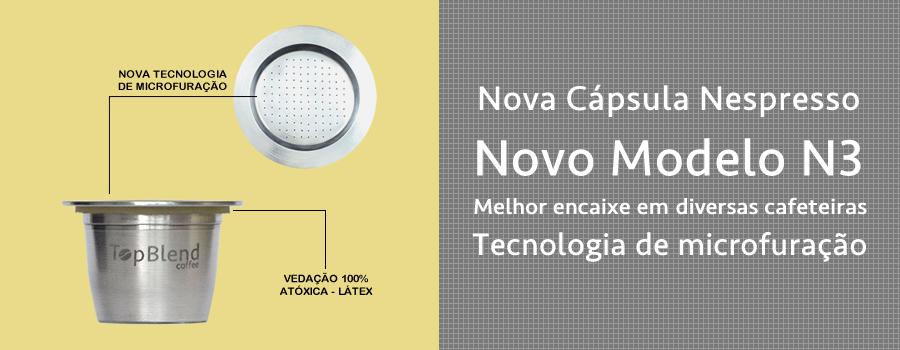 Nova Cápsula TopBlend N3 com exclusivo sistema de microfuração