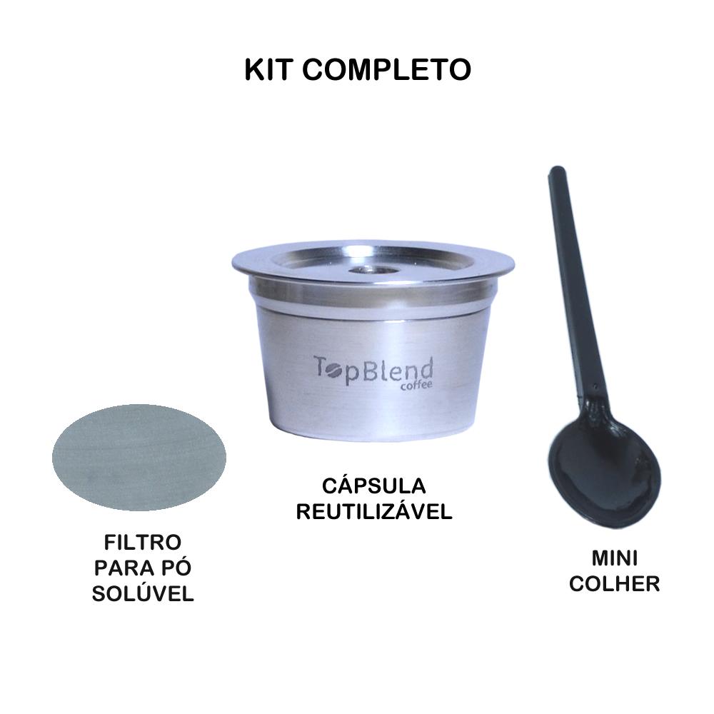 Kit Completo Cápsula Reutilizável TopBlend Tres Corações