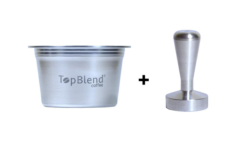 Kit Cápsula reutilizável Tres TopBlend + Tamper