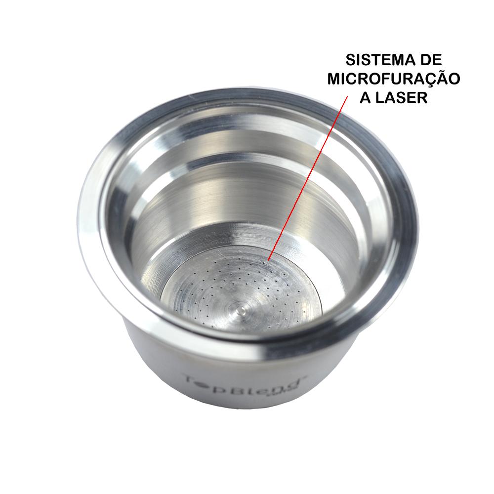 Exclusivo sistema de microfuração a laser que proporciona uma bebida mais intensa