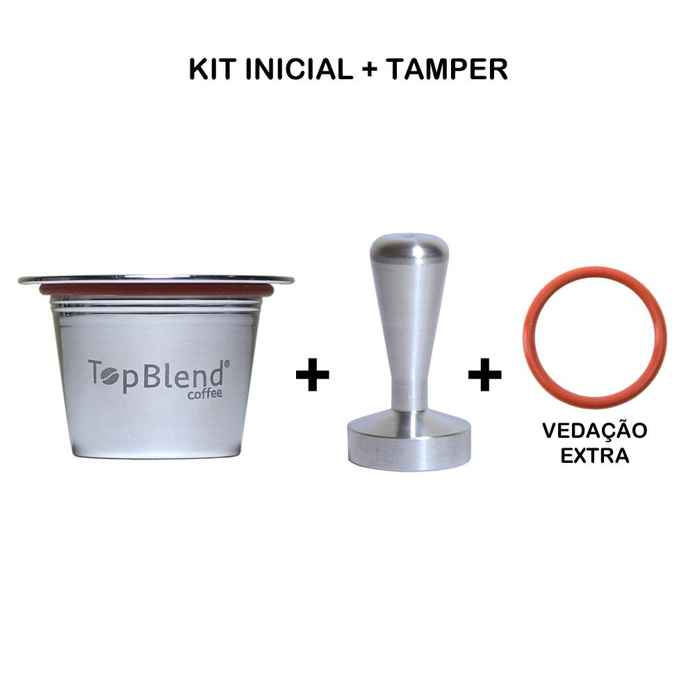 Kit Inicial de cápsula Reutilizável Nespresso TopBlend com tamper